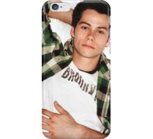Dylan O'Brien Green Flannel iPhone Case/Skin