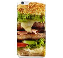 Homemade steak burger iPhone Case/Skin