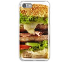 Homemade steak burger iPhone Case/Skin