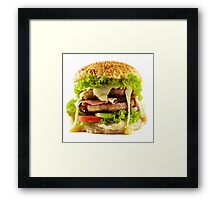 Homemade steak burger Framed Print