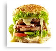 Homemade steak burger Canvas Print
