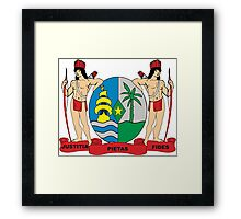 Suriname Coat of Arms If you like, please purchase, try a cell phone cover thanks Framed Print
