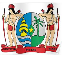 Suriname Coat of Arms Poster