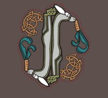 Celtic Rabbit Letter I - New Edition One Piece - Short Sleeve