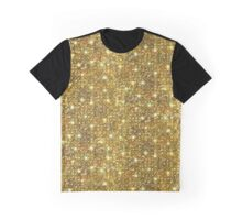 Gold Sequins And Sparkles Graphic T-Shirt