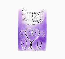 Courage CS Lewis inspirational handwritten quote Womens Fitted T-Shirt