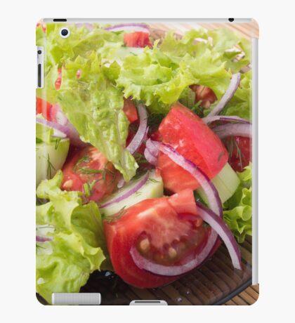 Fragment of vegetarian salad from fresh vegetables iPad Case/Skin