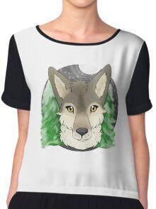 Timber Wolf Chiffon Top