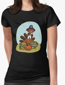 Happy Thanksgiving! Womens Fitted T-Shirt