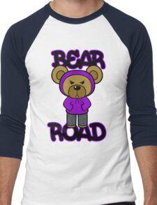 Bear Road (Purple) Men's Baseball ¾ T-Shirt