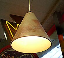 Lamp Over A Booth At the Retro Diner by Jane Neill-Hancock