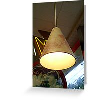 Lamp Over A Booth At the Retro Diner Greeting Card