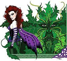 Greenman and Red by tigressdragon