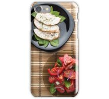 Top view of the table with a home-cooked meal iPhone Case/Skin