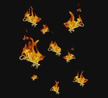 Flaming keys Unisex T-Shirt