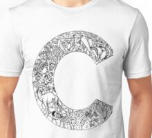 Animal Alphabet Letter C Unisex T-Shirt