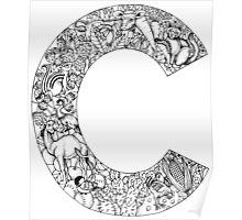 Animal Alphabet Letter C Poster