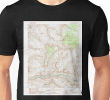 USGS TOPO Map Arizona AZ Fishtail Mesa 311323 1988 24000 Unisex T-Shirt
