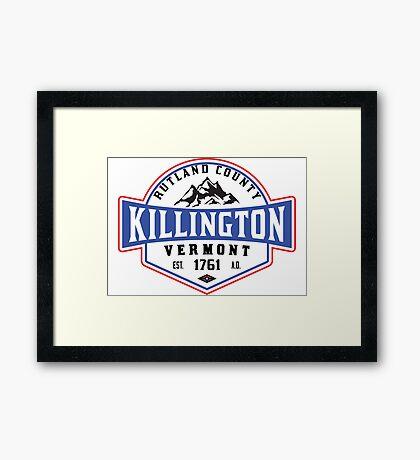 KILLINGTON VERMONT Mountain Skiing Snowboard Biking Hiking Framed Print