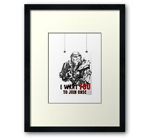 Master Chief - I WANT YOU! Poster Parody Framed Print