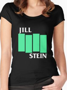 Jill Stein (Black Flag style) Women's Fitted Scoop T-Shirt
