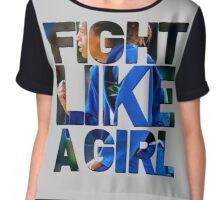 Like a Badass Girl Chiffon Top