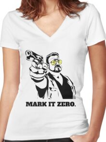 Mark It Zero - Walter Sobchak Big Lebowski shirt Women's Fitted V-Neck T-Shirt