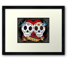 Love Skulls Framed Print