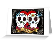 Love Skulls Greeting Card