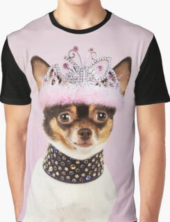 Cute Chihuahua wearing studded collar and tiara Graphic T-Shirt