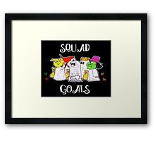 Squad Goals in White Framed Print