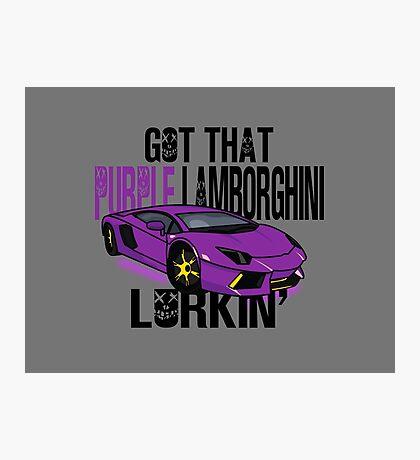 Purple Lamborghini Photographic Print
