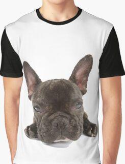 Portrait of a cute French Bulldog Graphic T-Shirt