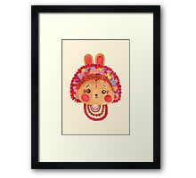 The Flower Crown Bunny Framed Print