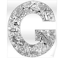 Animal Alphabet Letter G Poster