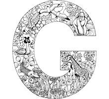 Animal Alphabet Letter G Photographic Print