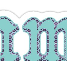 """Lame"" in Turquoise and Purple Hexagon Sticker"