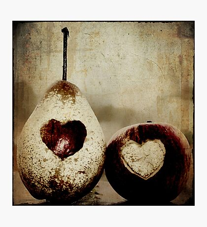 apple and pear hearts Photographic Print