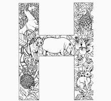 Animal Alphabet Letter H Unisex T-Shirt