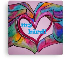 I Heart my BIRD! Canvas Print