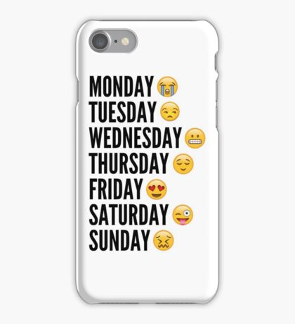 Emoji Week iPhone Case/Skin