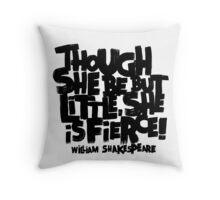 Little, Fierce Throw Pillow