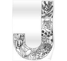 Animal Alphabet Letter J Poster