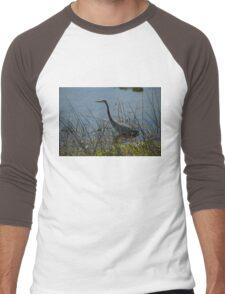 Great Blue Heron at Viera Wetlands Men's Baseball ¾ T-Shirt