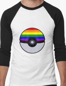 Gay Poké Ball - Black Version Men's Baseball ¾ T-Shirt