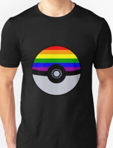 Gay Poké Ball - Black Version Unisex T-Shirt