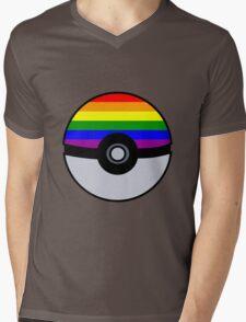 Gay Poké Ball - Black Version Mens V-Neck T-Shirt