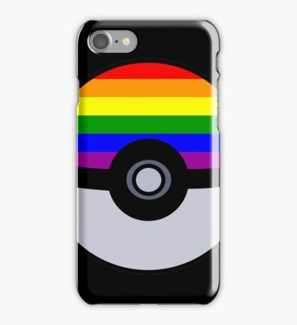 Gay Poké Ball - Black Version iPhone Case/Skin