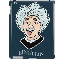 Albert Einstein funny illustration with tongue out iPad Case/Skin