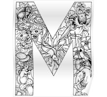 Animal Alphabet Letter M Poster